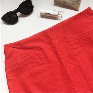 Banana Republic Orange Mini Skirt Sz 4